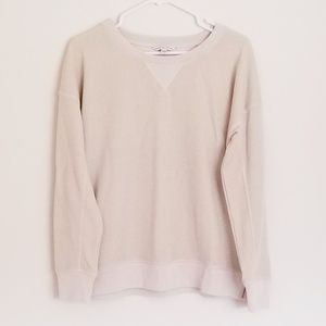 American Eagle Tan & Gold Crew Sweatshirt